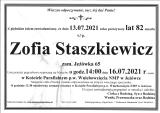 Zofia Staszkiewicz