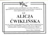 Alicja Ćwiklińska